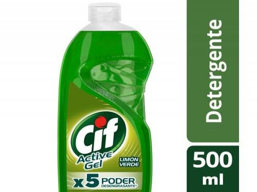 Detergente Concentrado Cif Active Gel Limón Verde 500 Ml