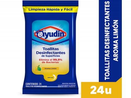 Ayudin Toallitas Desinfectantes Limón 24 U