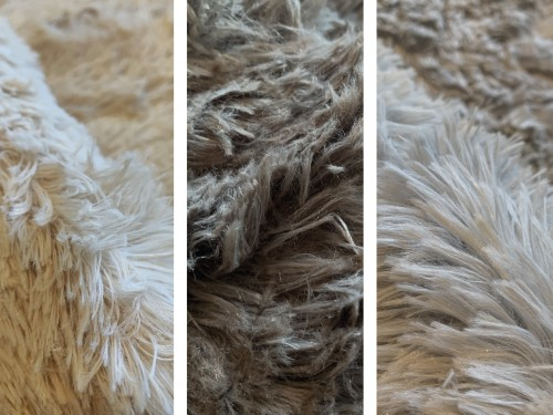 Alfombra Tapete Nórdica Moderna Pelo largo varios colores y medidas