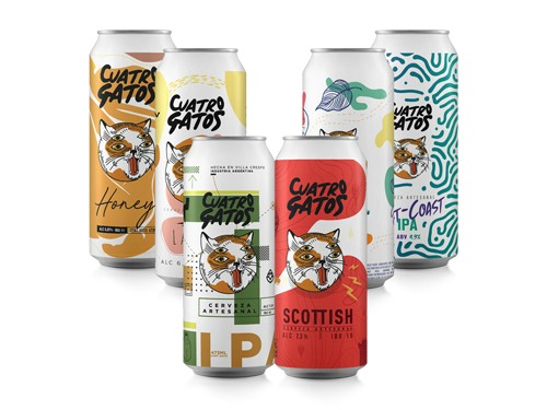 Mix Degustación cerveza 4 Gatos - 6 Latas / 6 Estilos diferentes