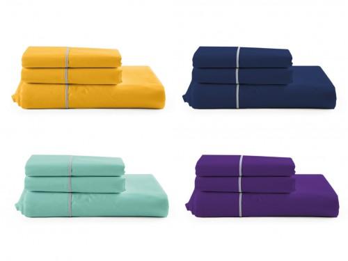 Sábanas Percal 160 hilos varios colores y medidas antipeeling suave