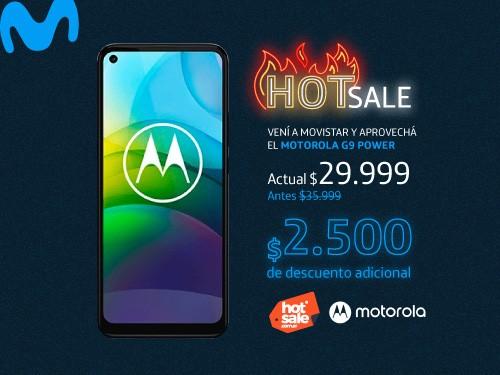 Portabilidad Movistar + Celular Moto G9 Power - Liberado