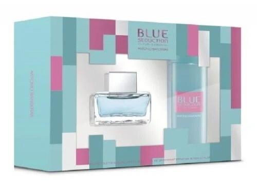 PERFUME SET BLUE SEDUCTION WOMAN EDT 80 ML + DEO