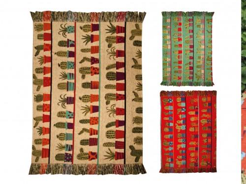 Mantas Sillón Pie De Cama 130x140cm Cactus varios colores