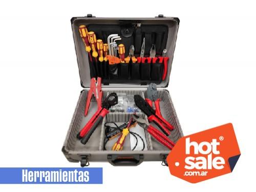 Valija de instalador con herramientas