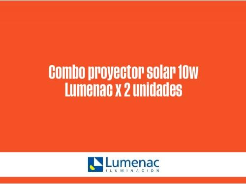 Proyector solar 10W con sensor movimiento x 2 unidades