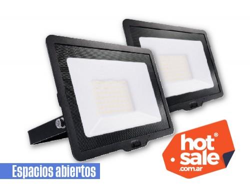 Pack de 2 proyectores LED 20W luz fría para exterior IP65
