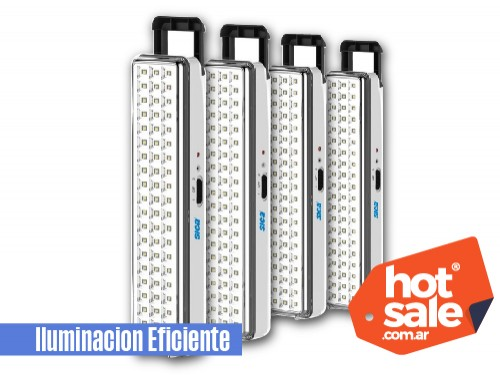 luz de emergencia 60 LEDs x 4 unidades
