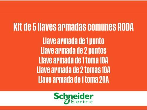 Kit 5 llaves armadas comunes RODA