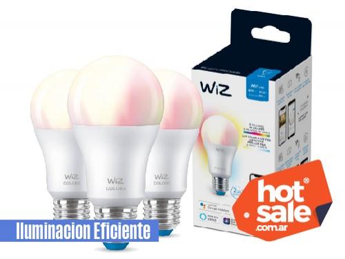 Pack de 3 lámparas LED Smart WiFi 9W A60 E27 Blanco/color