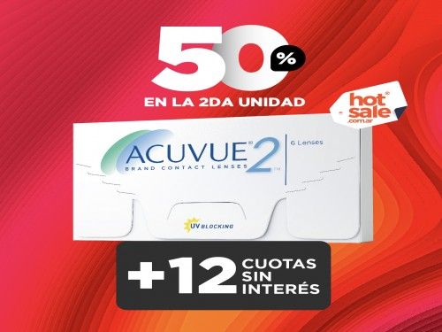 Lentes de contacto Acuvue 2 | segunda caja al 50% off.
