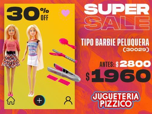 Muñeca Tipo Barbie Peluqueria Con Accesorios Fenix (30029)