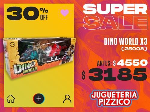 Juego Dino World Helicoptero Fenix (25008)