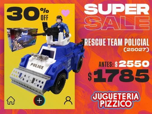 Vehiculo De Juguete Rescue Team Tanque Policial (25027)