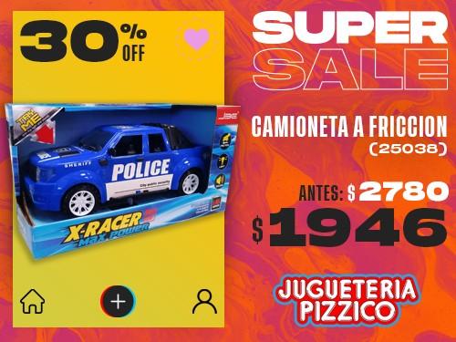 Camioneta Policial Juguete Friccion Luz-sonido (25038)