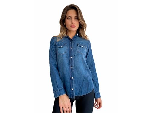 Camisa de jean con bolsillos Perry- Kout Mujer