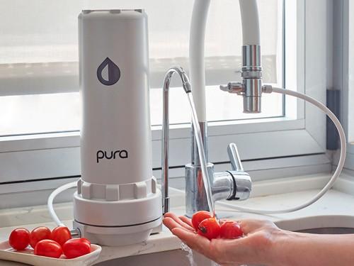 Purificador Agua + Filtro Extra Elimina Cloro Sabor Olor Sobre Mesada