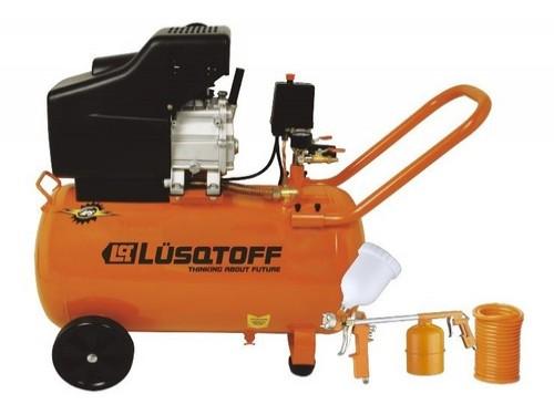 Compresor De Aire 50lt+ Kit 3 Piezas Lusqtoff Lc2550bk