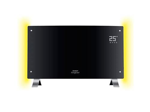 Calefactor / Vitroconvector digital con luz y LED 2000 W Negro Peabody