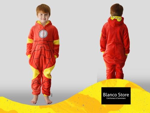 Pijama Infantil Piñata Iron Man de 5 a 8 años Mameluco Super Suave