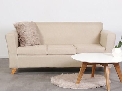 Sillon Sofa Escandinavo Personalizable De 3 Cuerpos Amy