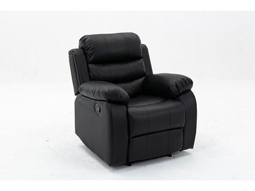 Sillon Sofa Reclinable Relax 1 Cuerpo Celio Ecocuero Negro