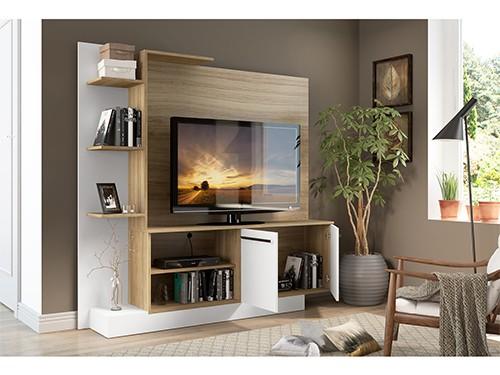 Mueble Para Tv Rack Mesa Con Panel Porto