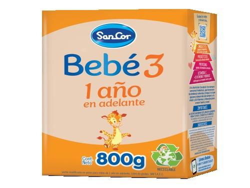Leche Infantil Etapa 3 Polvo 800g SanCor Bebé