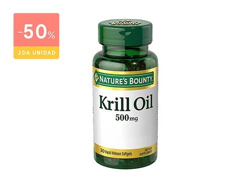 NATURE´S BOUNTY - ACEITE KRILL OIL 500MG (30 CAPSULAS) | FarmaOnline