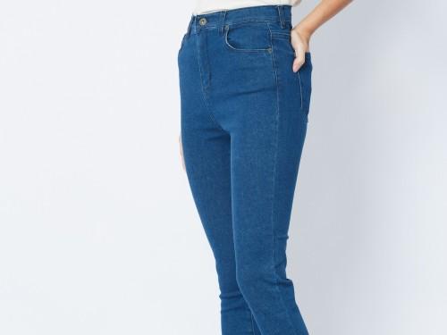 Jean azul tiro alto fit skinny Hadid Blue Vii Mujer John L. Cook