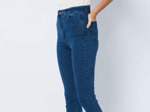Jean Mujer Azul Tiro alto Fit Skinny Hadid Blue VIII John L. Cook