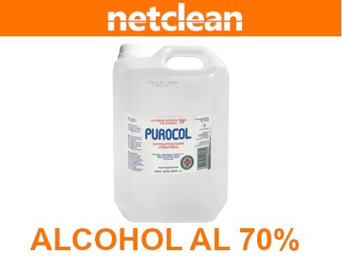 Alcohol al 70% manos y superficies Purocol 5L