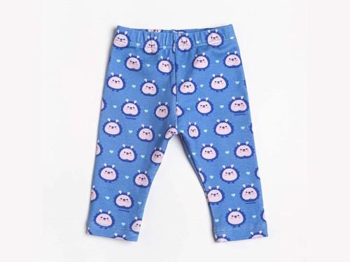 Calzas Bebé Nena Azul Erizas