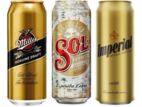 Combo Refrescante: Miller 473 ml + Sol 473 ml + Imperial Golden 473 ml