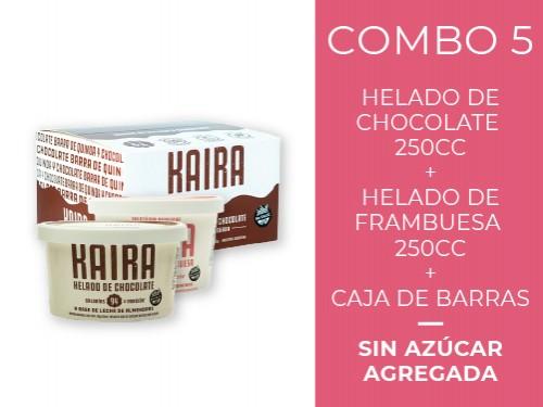 Helados sin azúcar: 1 frambuesa + 1 chocolate + 20 barras de cereal
