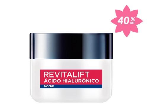 Crema de Noche con Ácido Hialurónico Revitalift Loreal París x50ml