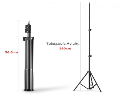 Aro de luz 36cm y pie 1.6 mts Godox Luz fria 180 leds 27W