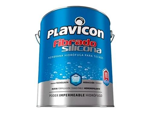 Impermeabilizante Plavicon Fibrado Silicona Blanco 4 Kilos