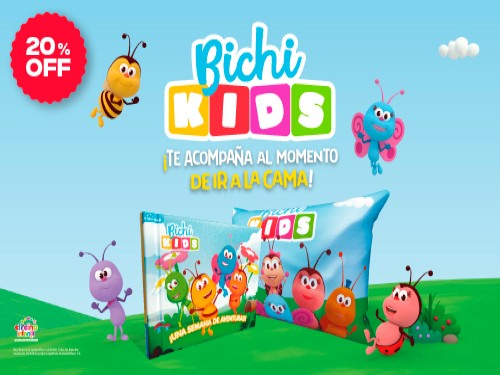 Bichi Kids libro + almohadita 20% OFF