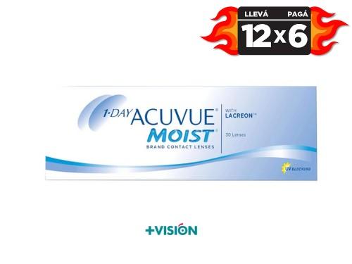 Lentes de contacto Acuvue 1 day moist | promo 12x6.