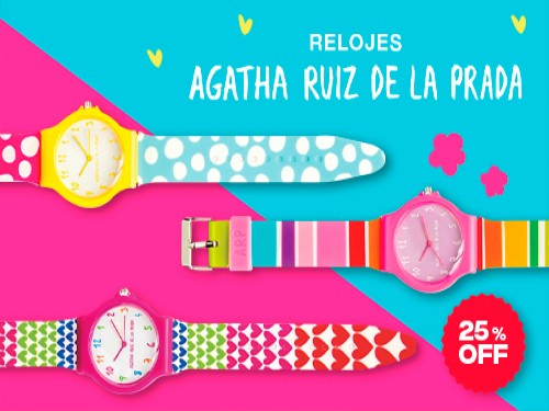 Relojes Agatha Ruiz de la Prada: 25% OFF