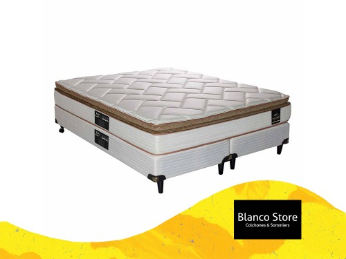 Sommier y Colchon King Koil Finesse - King 200 x 180 Resorte Biconico