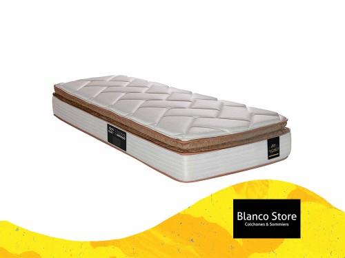 Colchon King Koil Finesse Pillow - 1 1/2 Plaza 190 x 90 Resortes LFK