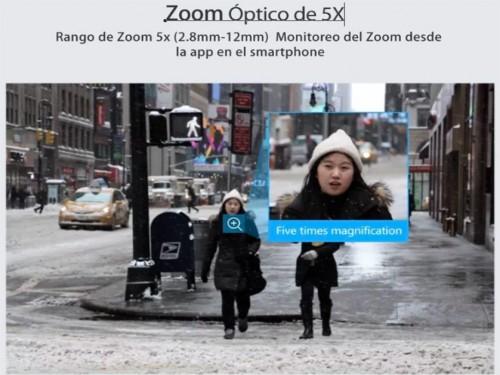 Cámara Domo IP Ptz Zoom 5x Audio 2 Vías Visión Nocturna 40 metros