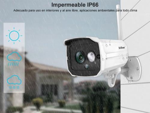 Camara Ip Exterior 1080p. HD Audio de 2 Vías