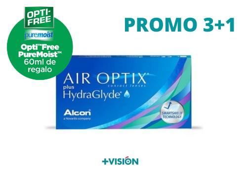 Lentes de contacto Air Optix Plus Hydraglyde | Promo 3+1
