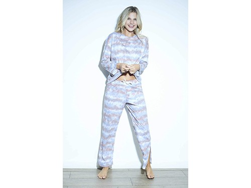 Pijama Remera manga larga rélax + Pantalón batik Luz de Mar