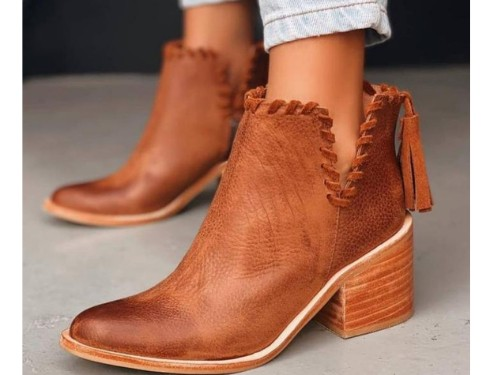 Botineta texana de mujer  cuero , Maleducadas
