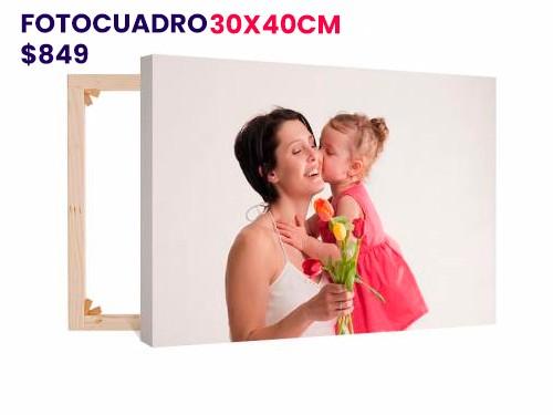 foto cuadro 30x40 de lienzo sobre bastidor artfine personalizado.