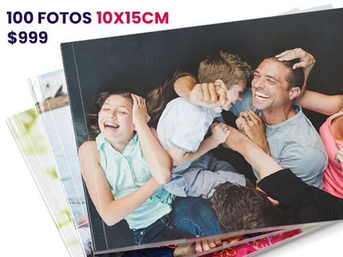 impresión 100 fotos 10x15 mate o brillo, revelado tradicional